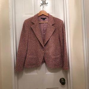 Zara pink Boucle Jacket
