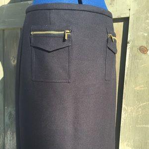 J.Crew 100% wool pencil skirt size medium