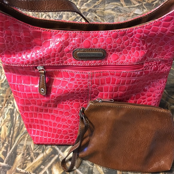 98c0abd5f60 Jaclyn Smith Bags | Pink Bag With Brown Matching Wristlet | Poshmark