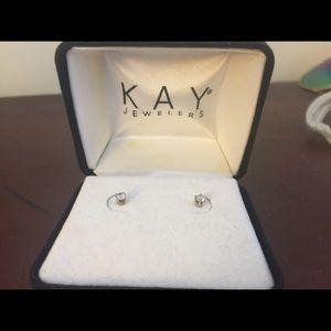 Tiny stud diamond earrings
