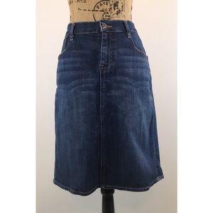 Old Navy Blue Denim Jean Skirt