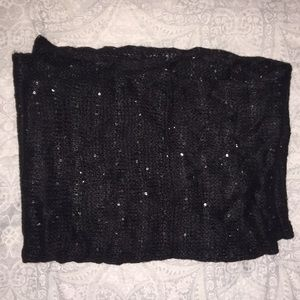 Guess - Black with Sequins- infinity scarf