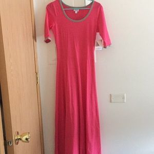 Lularoe BMWT Size Small Ana pink floor length dres