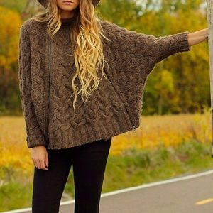 Free People Following Directions Sweater Cape