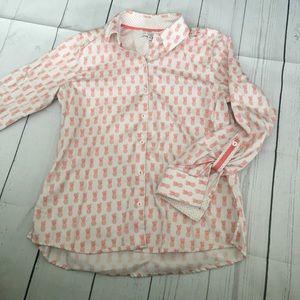 Foxcroft  pineapple button down shirt