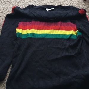 Urban Outfitters Rainbow Stripe Sweater