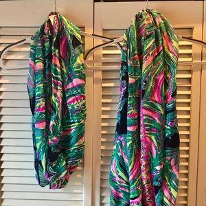 2 NWT Lilly Pulitzer Resort infinity loop scarves