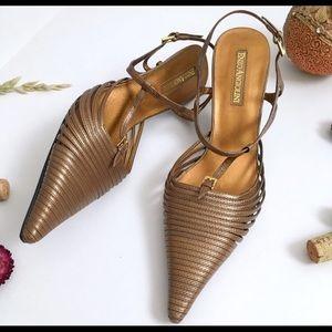Gorgeous copper kitten heels