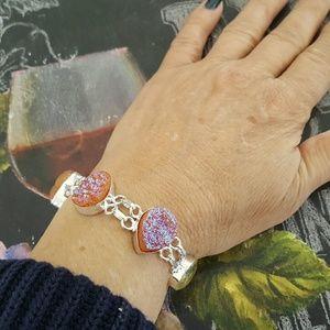 Jewelry - Druzy Agate Bracelet Sterling Silver