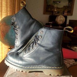 Dr. Martens Matte Leather Combat Boots Moto