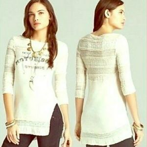 we the Free People Lady Lace Moto Soul Top