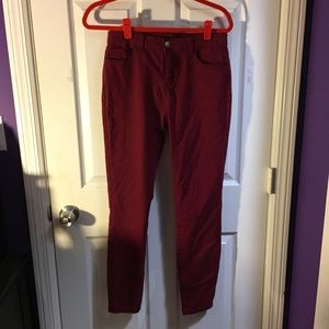 F21 Red Skinny Jeans