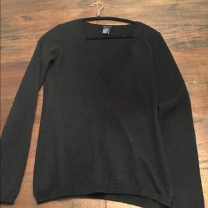 Theory black cashmere sweater