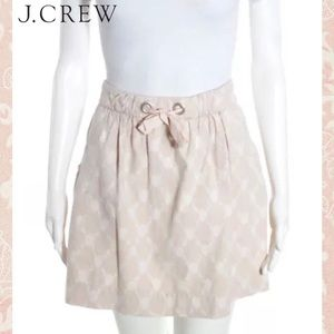 J CREW Salmon/Cream Abstract Tie Waist ALine Skirt