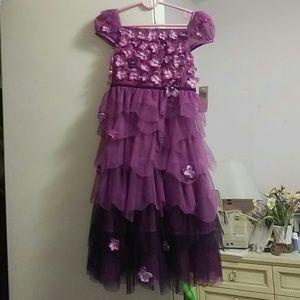 Biscotti stunning purple kids dress 5