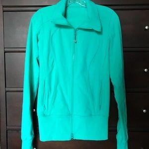 Lululemon Asana Turquoise Workout Jacket