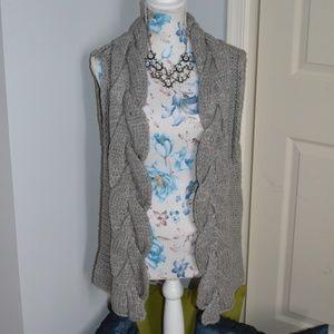 Kenji tunic sweater vest, acrylic & wool