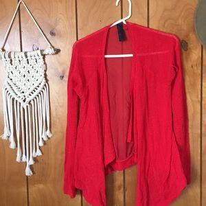 Francesca's Red Cardigan