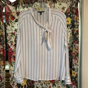 Eva Longoria striped blouse