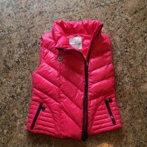 MONCLER fuchsia down ladies vest