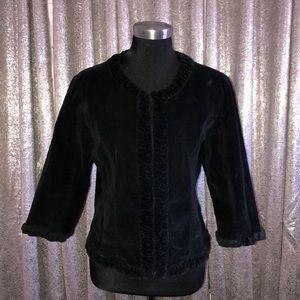Velvet 3/4 sleeve blazer