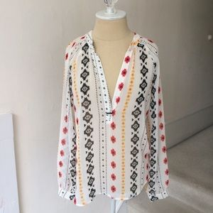 Lumiere Pattern Long Sleeve Blouse