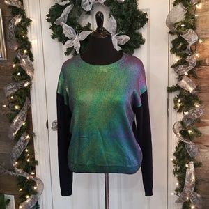 Leith iridescent front sweater