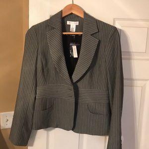 Gray pin stripped blazer