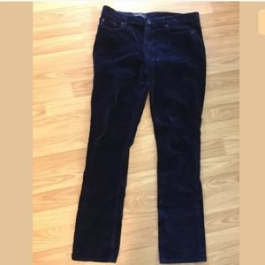 J. Crew matchstick velvet pants 29R