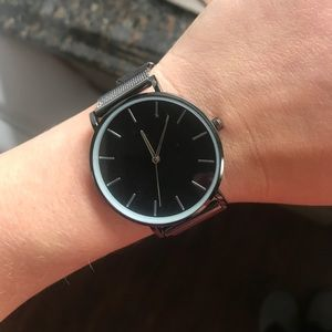 Black & Silver Watch!