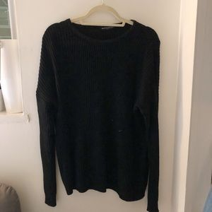 BLACK BRANDY MELVILLE SWEATER - DISCONTINUED STYLE