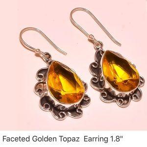 ⬇️$35 new golden topaz earrings jewelry women lady