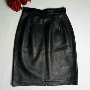 Ann Taylor Leather Skirt