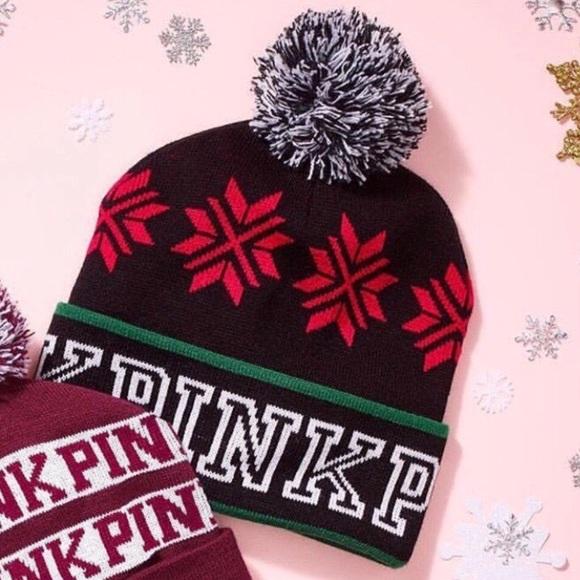 51041788983 NEW Victoria s Secret PINK Beanie Winter Hat