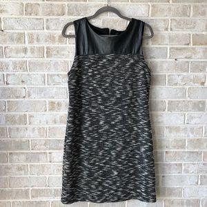Cynthia Rowley Dress Size L Faux Leather Shift