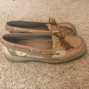 Sperry Top-Sider Boat Shoe - gold sparkles