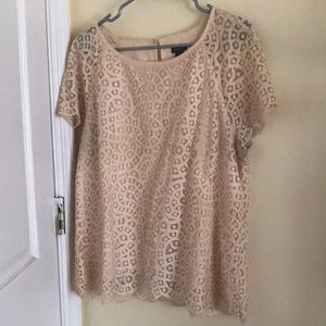 J. Crew blouse size 12! Cream lace.