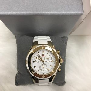 Michele Tahitian Jelly Bean White Dial Watch