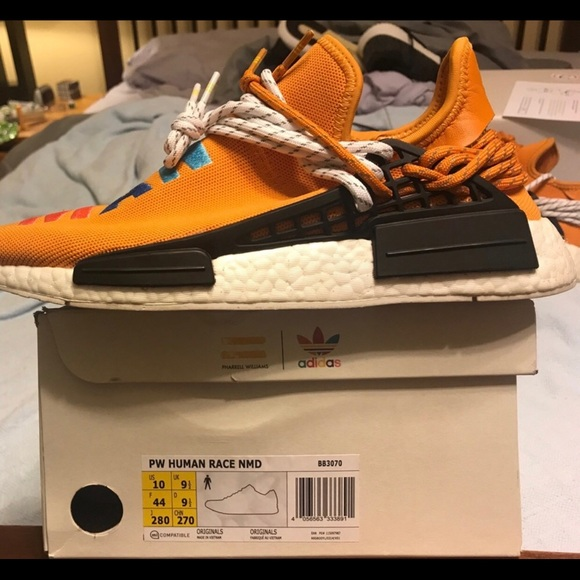 reputable site 2bd61 a4e0b PW Human Race NMD Custom tangerine