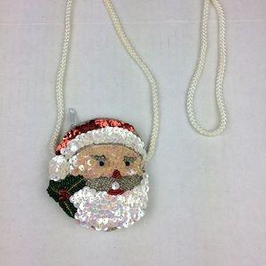 Handbags - Santa Christmas Sequin coin pouch crossbody