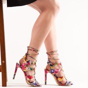 Madden Girl Sandy Floral Multi Color Heels