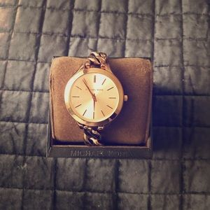 Rose gold Michael Kors chain link watch
