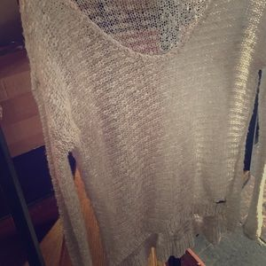Sheer Shimmery Sweater