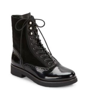 NWOT French Connection Vanja Lace Up Combat Boots