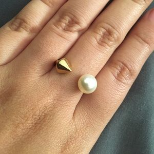 Stella & Dot Jewelry - Stella & Dot Pearl Spike Split ring
