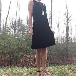 Vintage 90s Velvet Little Black Dress