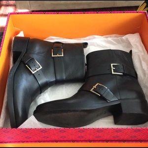 Black Riley Multi-buckle Boots