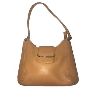 Large Tan Leather Cole Haan Bag
