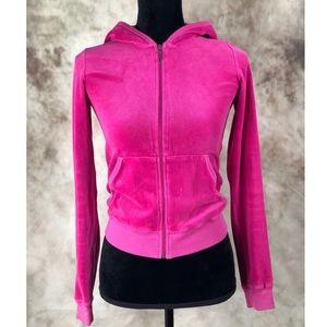 Juicy Couture Embellished Pink Velour Hoodie