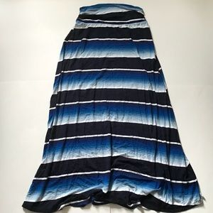 Merona Size Small Blue And Black Maxi Skirt